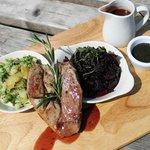 Sunday Lunch Lamb steak platter