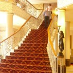 Treppe in den ersten Stock