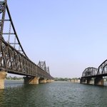 Dandong Yalu River - Bridges to North Korea from Dandong