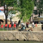 Dandong Yalu River - North Korea lifestyle