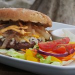 Flamed Grilled Cheeseburger