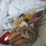 Frukost på rummet. Mycket bra!