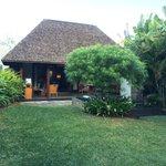 Our villa as seen from our garden
