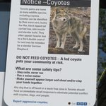 Coyote sign at Wards Island