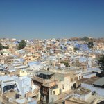 view of jodhpur from hotel rooftop