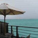 water villa balcony