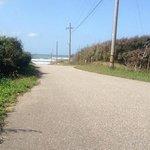 羽咋健民自転車道(途中の車道から砂浜を望む)3
