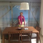 thats me in the guests dining room, great mural on that wall!