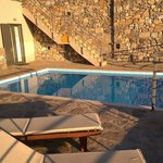 Early morning sun and the pool