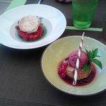 Soupe de Fraises avec glace yaourth et Clafoutis à la cerise ...