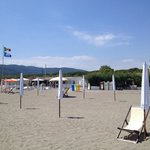 Beach and bar & restaurant at Tamerici