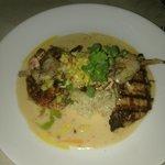 amazing white fish dinner with shrimp