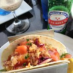 Get the fish tacos with a Caybrew!!