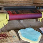 Traditional pattern on the loom