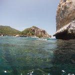 crique vue de la mer