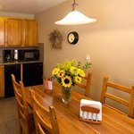 All suites have small, fully equipped kitchens