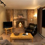 All our One Bedroom Suites have traditional fireplaces or wood-stove type fireplaces