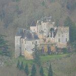 Vue sur le château des Milandes