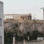 Peek-a-boo view of the Akropolis from patio