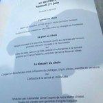 Voorbeeld van een menu t.w.v. 38 euro