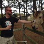 boyfriend petting ponies
