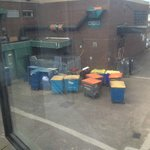 View of bins from room