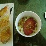 Cauliflower soup with grape surbet