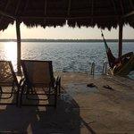 bacalar lagoon with hammock