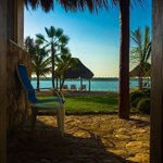 view from our room at bacalar lagoon resort