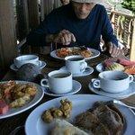 朝食、珈琲とおしるこ