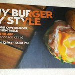 Design your own burger.