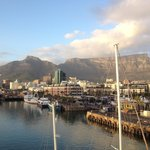View of the harbor and Table Mountain from our 4th floor loft...