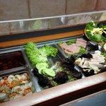 Cheese, Ham and salad corner