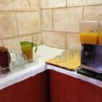 De drankhoek voor breakfast