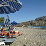 The beach of Plakias before Alianthos Beach