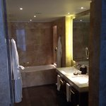 Huge stylish modern bath with shower room and dressing area
