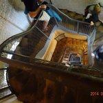 Dom上部に上る階段