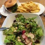 Big salad, chalet burger