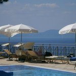 A view across the pool area towards parts of Naples