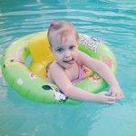 my little Elizabeth in pool