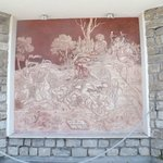 Fresco at entrance to hotel