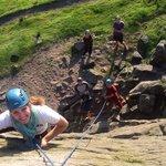 Climbing at Windgather