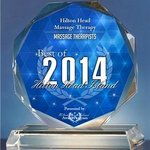 We won BEST MASSAGE IN HILTON HEAD for the Third Year in a Row!