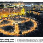 I was honored in Spain- 3,000 people held lit torches to make a Human Peace Sign!