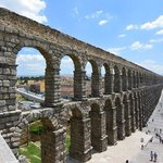 Roman aqueduct at Segovia, Spain.