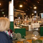 A view from the seating area