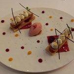 Strawberry Sorbet dessert