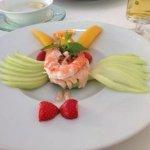 avacado and shrimp