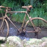 bike in the petrified well