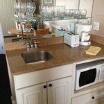 Wet bar in units